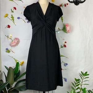 Banana Republic 100% silk twist front lbd